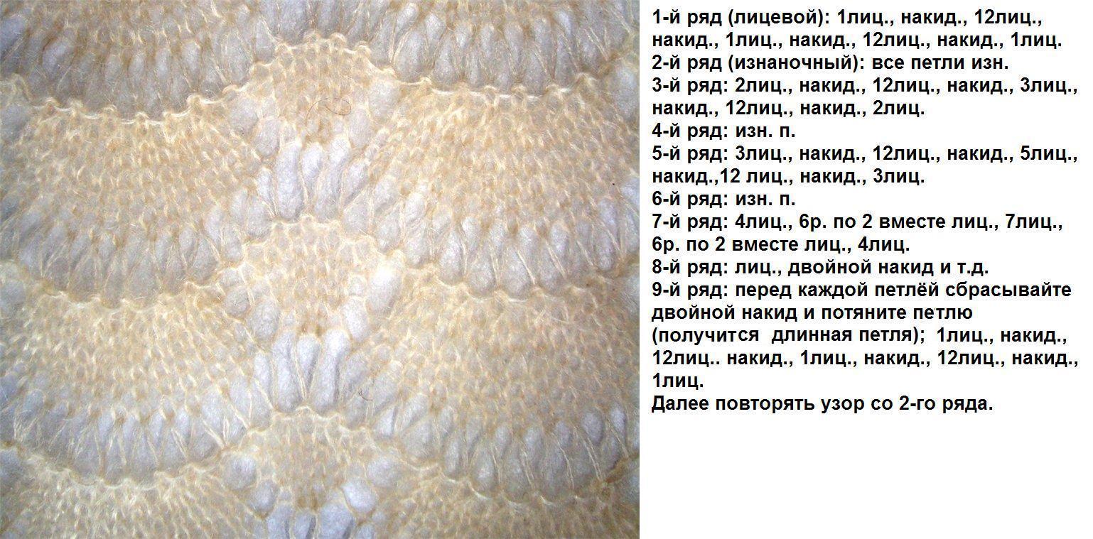 Вязание спицами веерные узоры 56