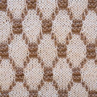 Выпуклые ромбы вязание спицами